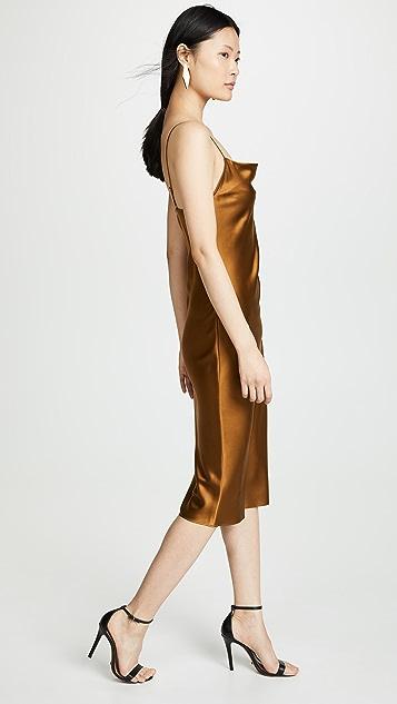 Fleur du Mal Платье-комбинация с воротником-хомутом