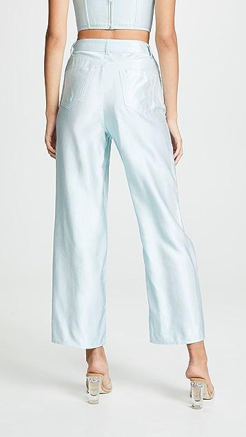Fleur du Mal Шелковистые джинсы