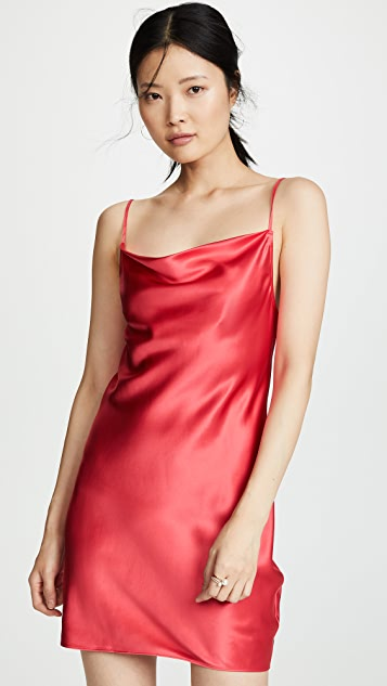 Fleur du Mal Cowl Neck Mini Slip Dress