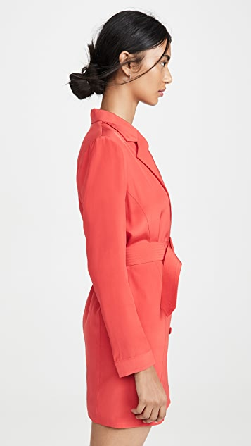 Fleur du Mal 系腰带西装外套式连衣裙
