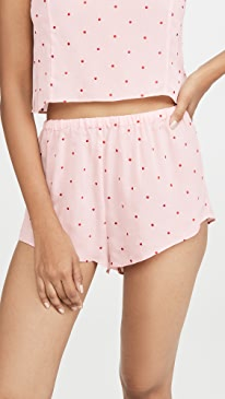 Dot Embroidered Tap Shorts