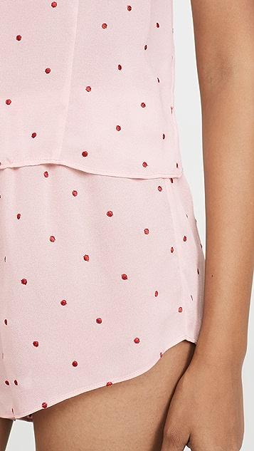 Fleur du Mal 圆点刺绣踢踏短裤
