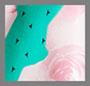 Mega Rose Print/Monaco Green