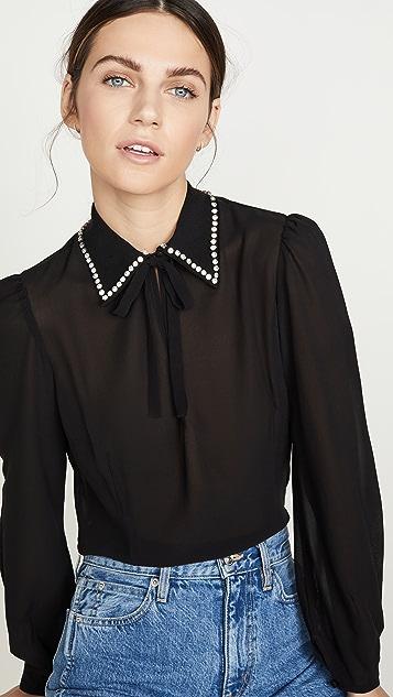 Fleur du Mal Embellished Collar Blouse