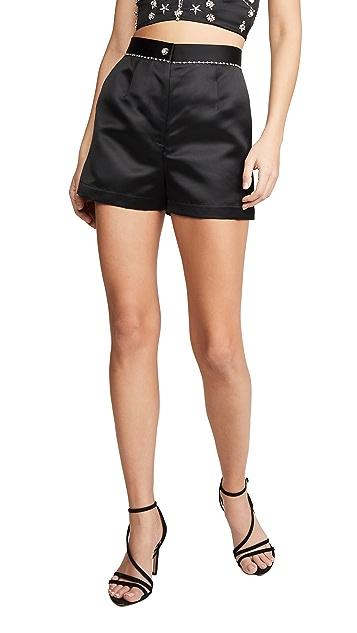 Fleur du Mal Embellished Shorts
