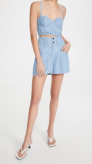Fleur du Mal 高腰牛仔短裤