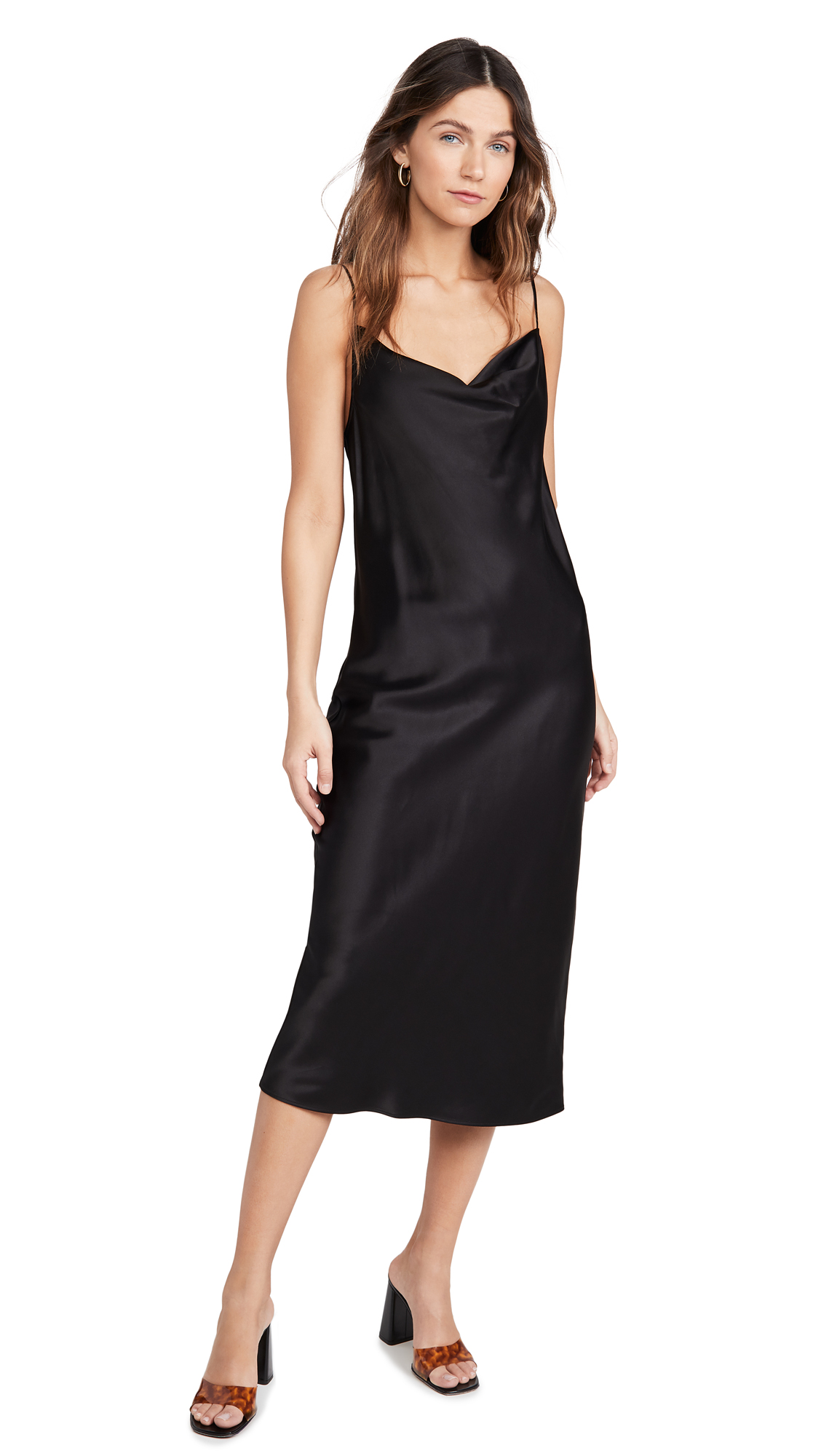 Fleur du Mal Cowl Neck Slip Dress