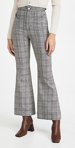 Fleur du Mal - V Waist Flare Pants with Top Stitch