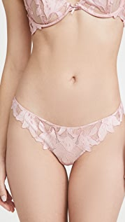 Fleur du Mal Lily Embroidery Hipster Thong