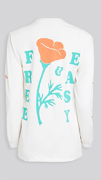 Free & Easy Poppy Long Sleeve Tee