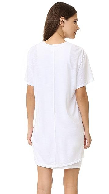 Feel The Piece Talia V Neck T-shirt Dress