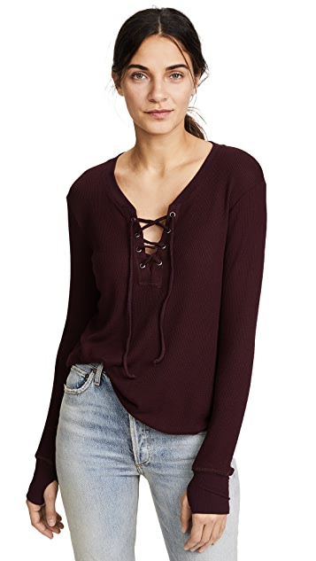 Feel The Piece Swift Lace Up Thermal Shirt
