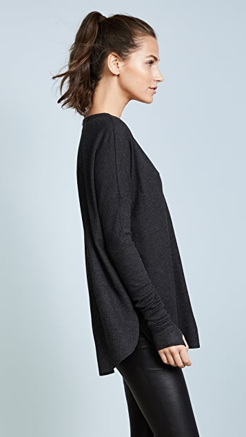 Feel The Piece Robin Thermal V Neck Top