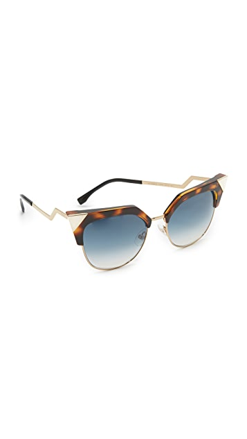 214b6c7b42c Fendi Iridia Crystal Corner Sunglasses | SHOPBOP