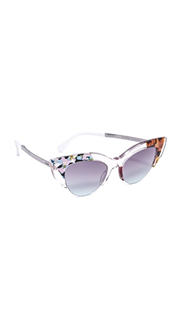 25c51d7381ce5 Fendi Jungle Cat Eye Printed Sunglasses