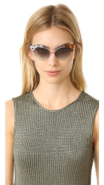 1cf3ae0cd979d ... Fendi Jungle Cat Eye Printed Sunglasses ...