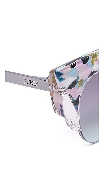 6bc92e9c4c2ba ... Fendi Jungle Cat Eye Printed Sunglasses
