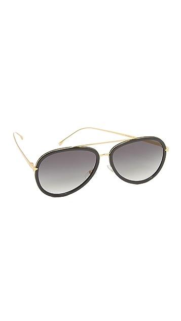 8fe18fda2b88 Fendi Funky Angle Aviator Sunglasses