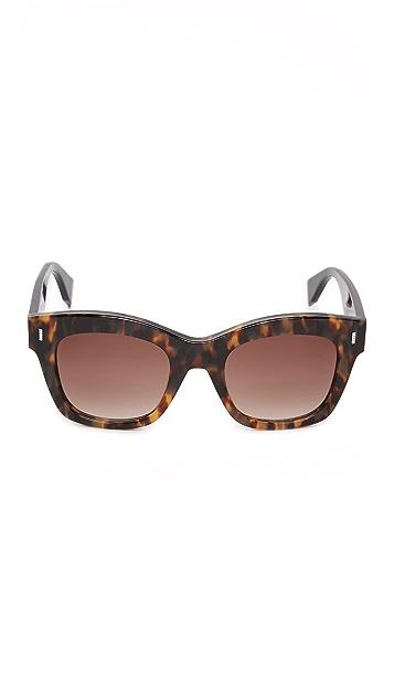 Fendi Colorblock Square Sunglasses