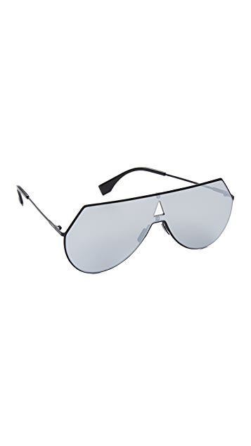 44dc260a08 Fendi Shield Aviator Sunglasses