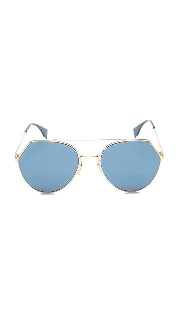 Fendi Солнцезащитные очки-авиаторы
