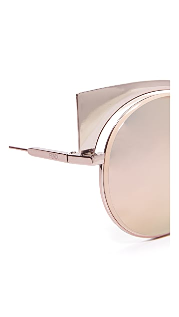 Fendi Cat Eye Mirrored Sunglasses