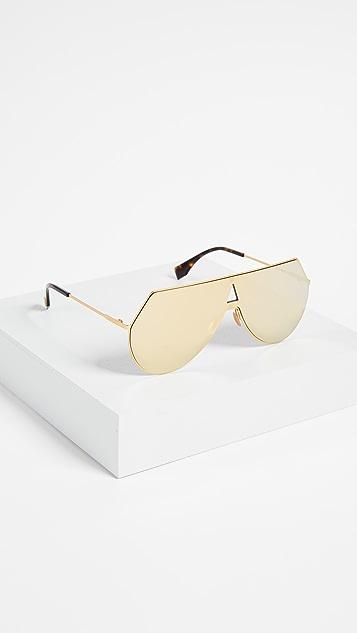 Fendi Shield Aviator Sunglasses