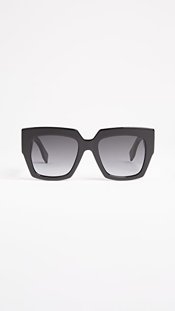 Fendi Square Colorblock Sunglasses