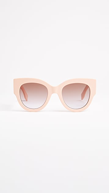 Fendi Cat Eye Colorblock Sunglasses