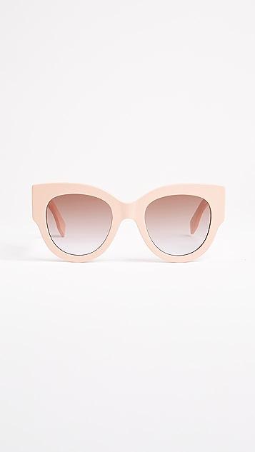 Fendi Солнцезащитные очки «кошачий глаз» с цветными блоками