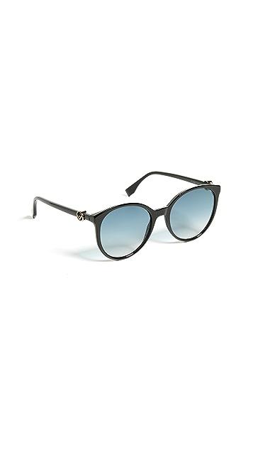 Fendi Round Gradient Sunglasses