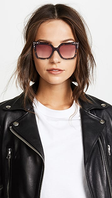 Fendi Thick Frame Square Sunglasses