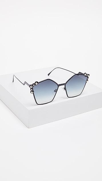 Fendi Geometric Sunglasses