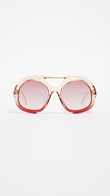 Fendi Thick Aviator Sunglasses