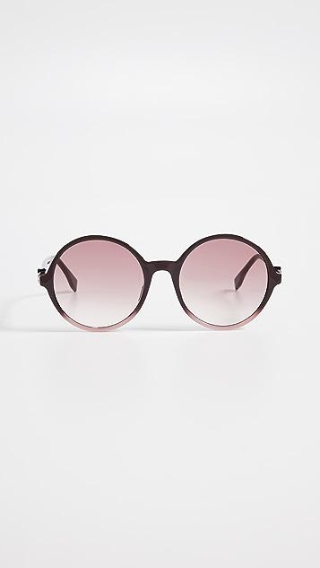 Fendi Round Acyrlic Sunglasses
