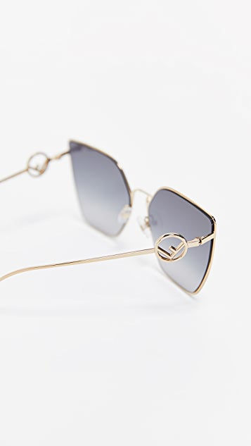 7238c2c89fb ... Fendi Oversized Cat Eye Sunglasses ...