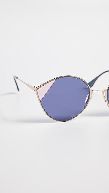 Fendi Color Block Cat Eye Sunglasses