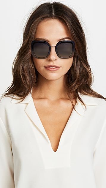 Fendi Большие квадратные солнцезащитные очки