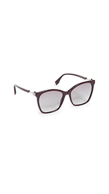 Fendi Classic Square Sunglasses