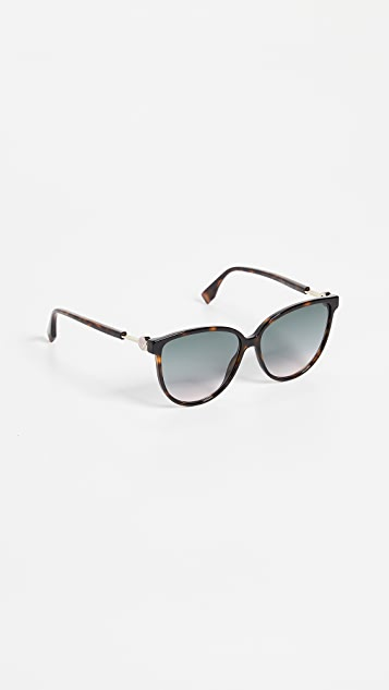 Fendi Classic Round Sunglasses
