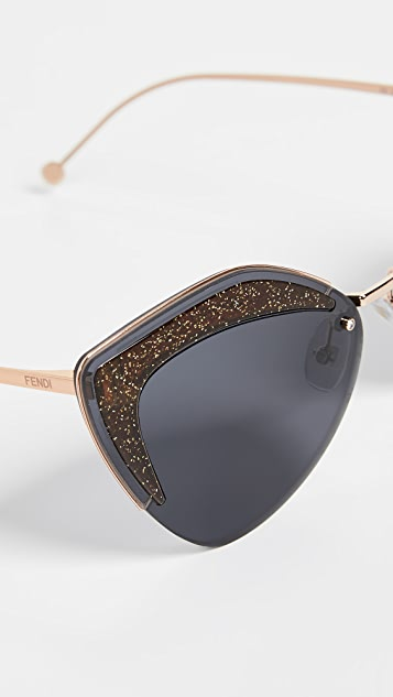 Fendi Солнцезащитные очки «кошачий глаз»