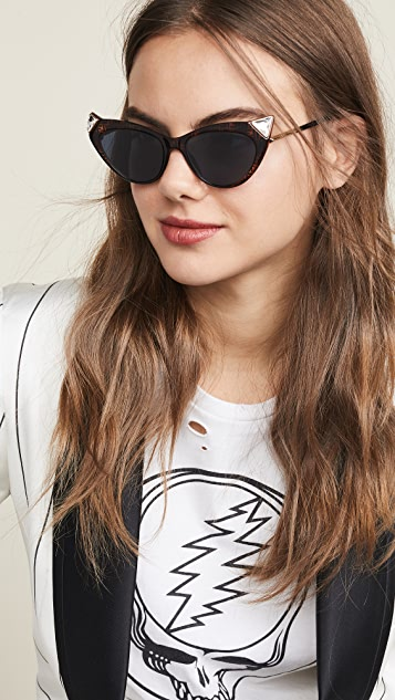 Fendi Logo Cat Eye Sunglasses