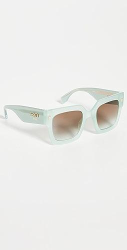 Fendi - Classic Square Logo Sunglasses