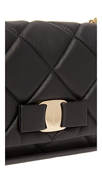 Salvatore Ferragamo Miss Vara Bow Soft Quilted Shoulder Bag