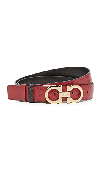 Salvatore Ferragamo Small Gianci Reversible Belt