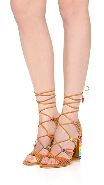 Salvatore Ferragamo Edgardo Osorio x Salvatore Ferragamo Rainbow Gladiator Sandals