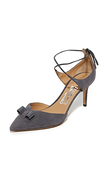 Salvatore Ferragamo Lace-Up Sandals with Leather Gr. US 5 yKczBJT