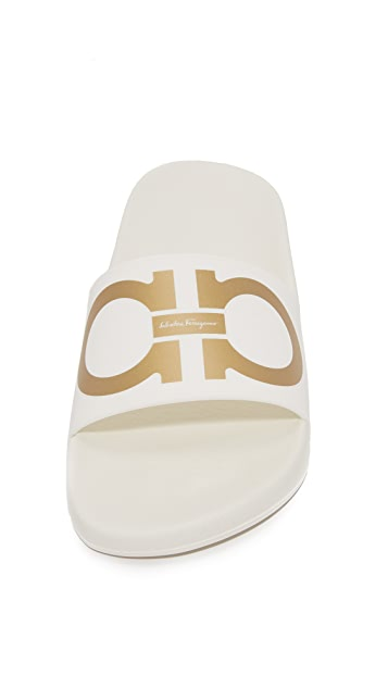 Salvatore Ferragamo Pool Slides
