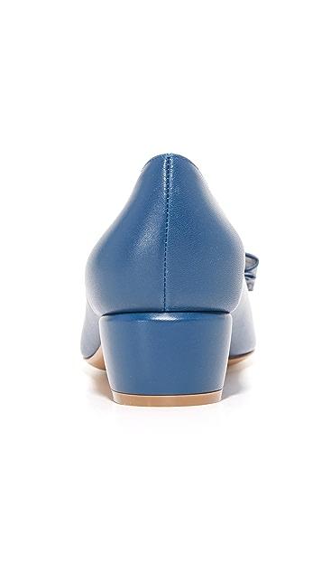 Salvatore Ferragamo Vara Low Heel Pumps
