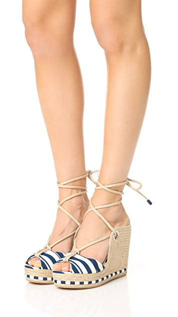 Salvatore Ferragamo Evita Wedge Sandals